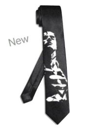 "superman tie BLACK 2"" thin slim skinny hero super man"
