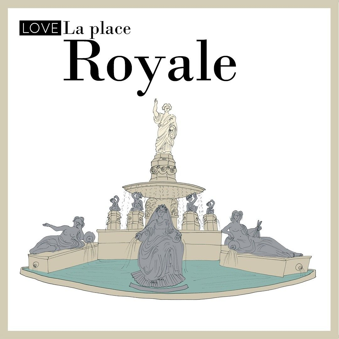 La place royale in nantes i illustrated it for wanderworldmaps esterytelling