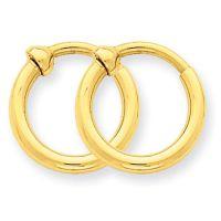 Small 14k Gold Hoop Earrings for Non Pierced Ears only ...