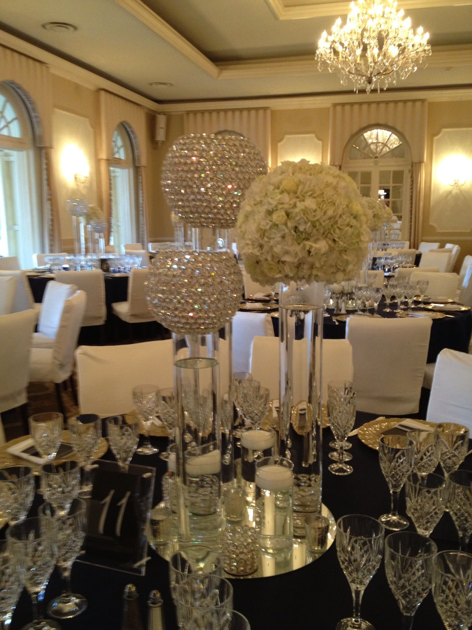 Crystal Decorations For Home Crystal Ball Centerpiece Wedding Decor Ideas Pinterest