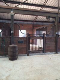 This is definitely a dream horse barn idea. The design is ...
