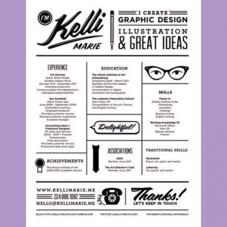Can I Incorporate Graphic Design Into My Resume? Intern Queen - graphic designers resume