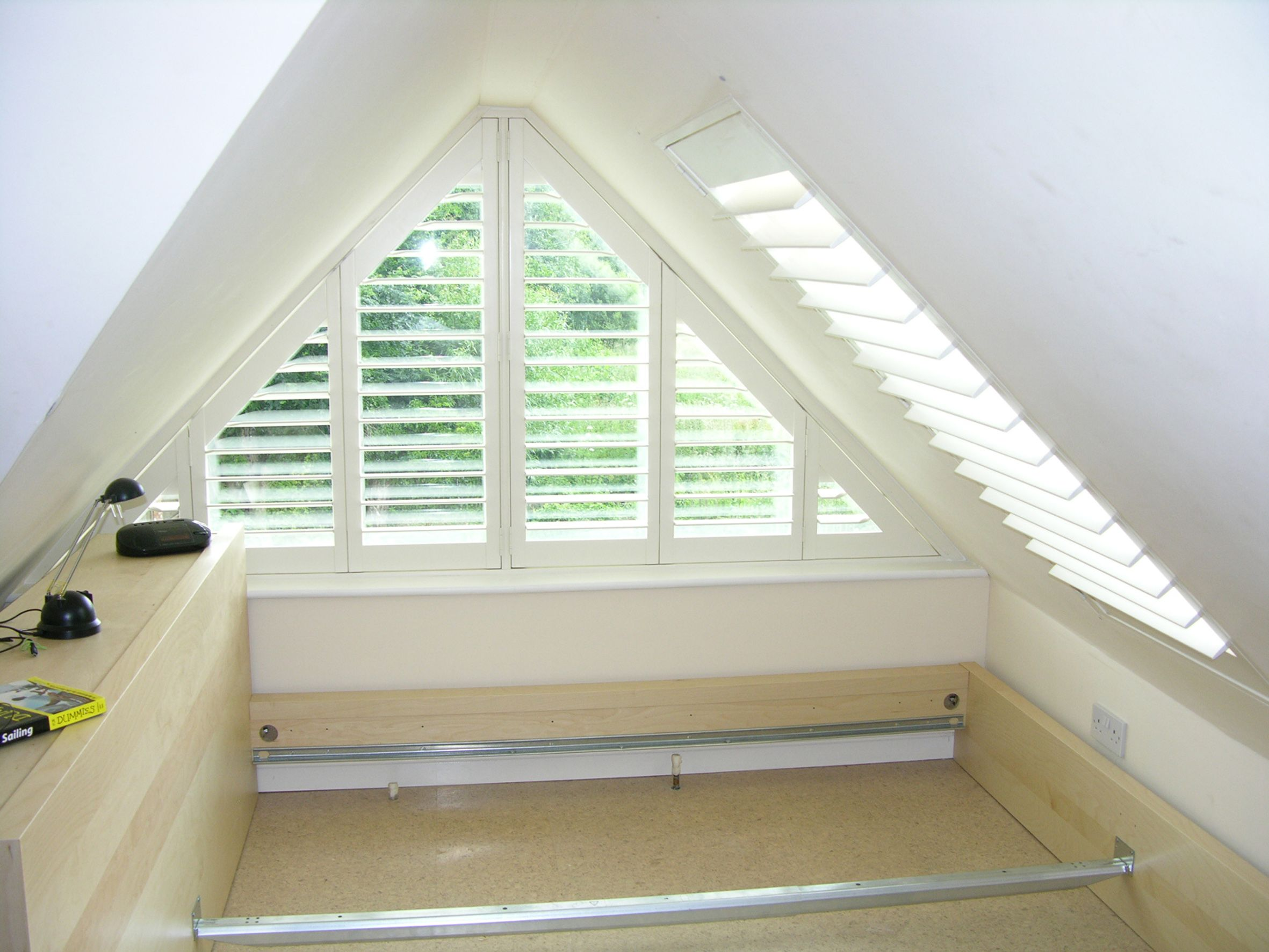 Triangle windows photos supplying wooden window shutters for arched and triangle