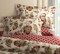 This 3 Pc Bedding set with a floral Vibrant Jacobean ...