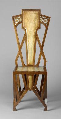 Art Nouveau A. De Vecchi chair - c. 1904 - Mahogany ...
