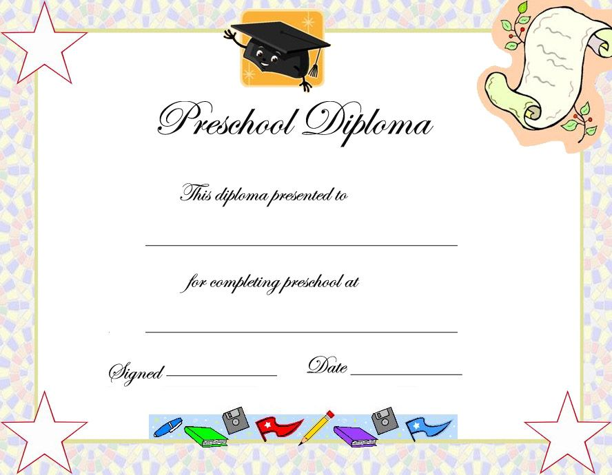 Certificate Template For Kids Editable free diploma certificate - certificate template for kids