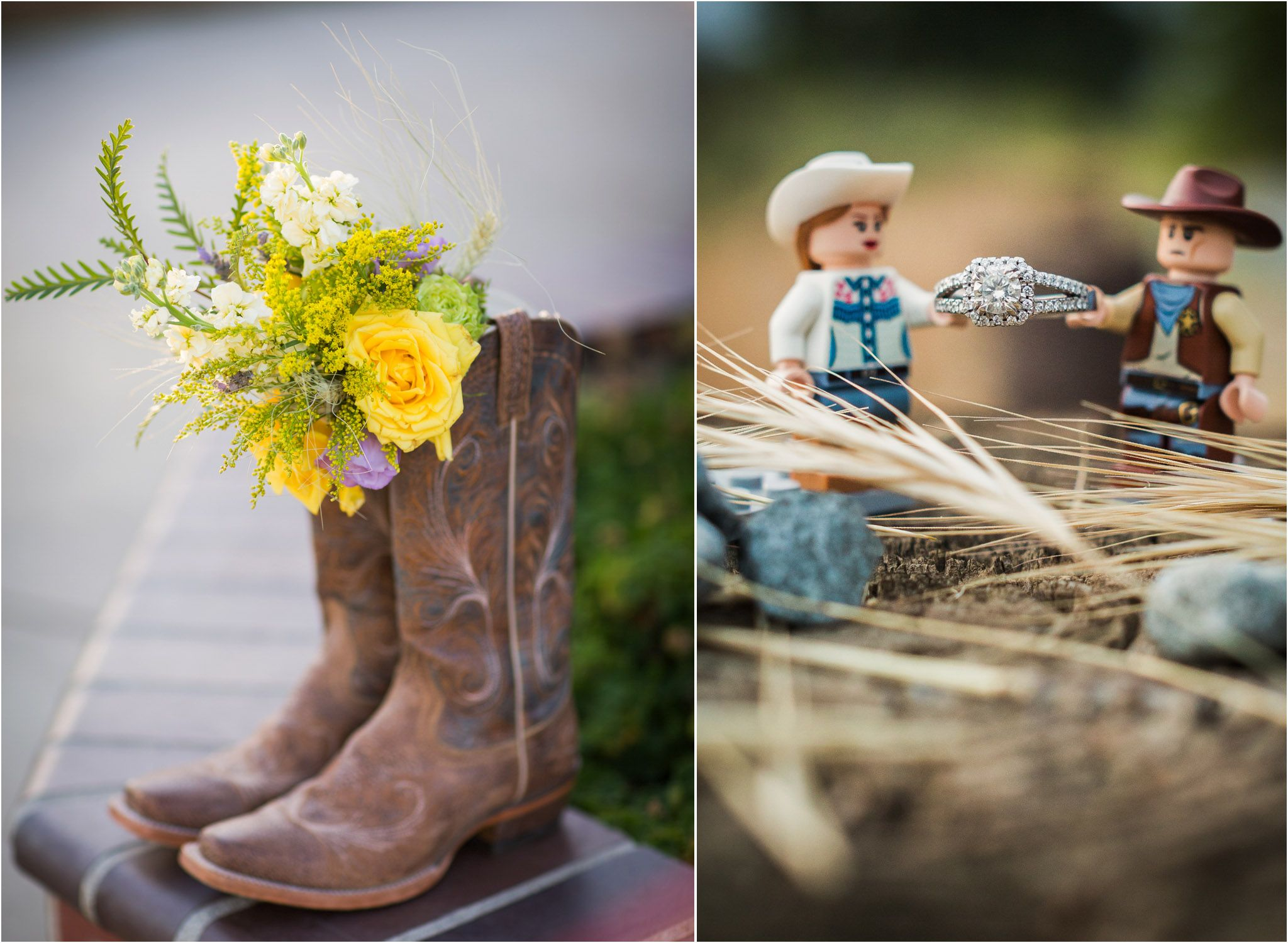 wedding cowboy boots San Diego Wedding Photography Cowboy Boots Engagement Ring Country Wedding Yellow Rose 17