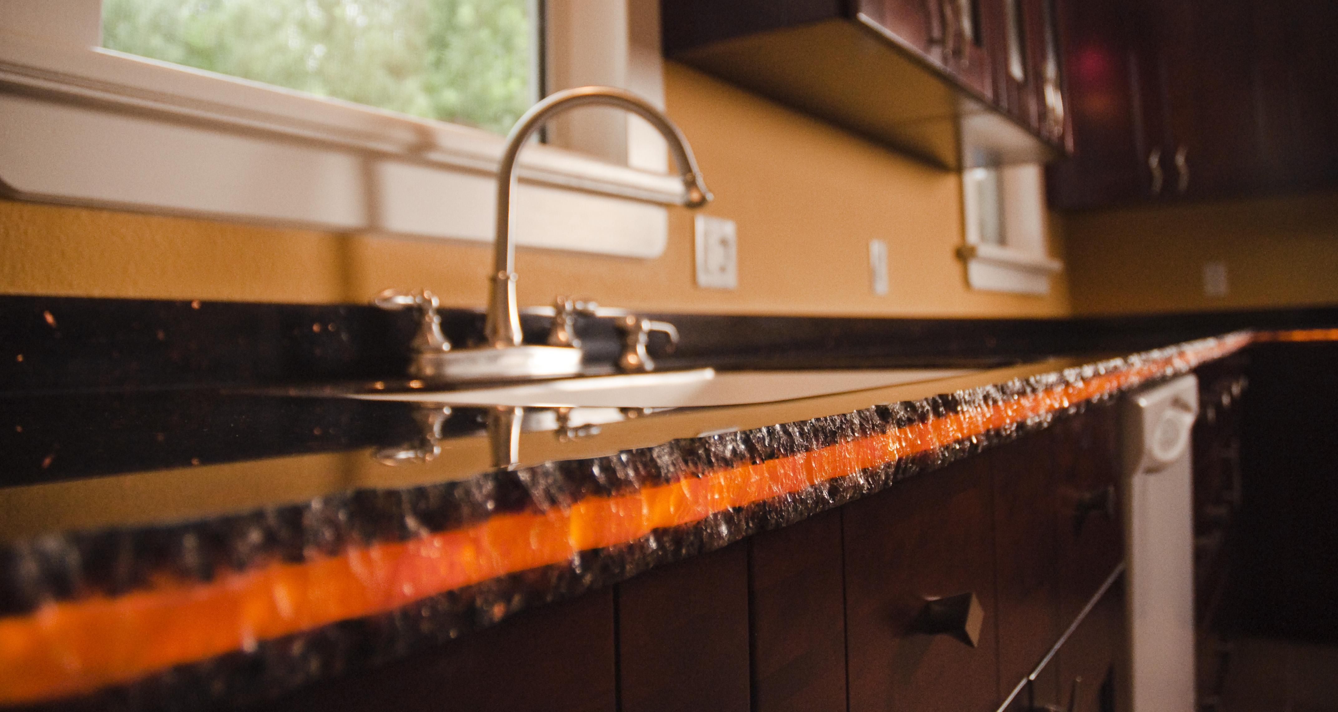 Copper Canyon Granite Countertops Molten Lava Avonite Surfaces Copper Canyon With Amber