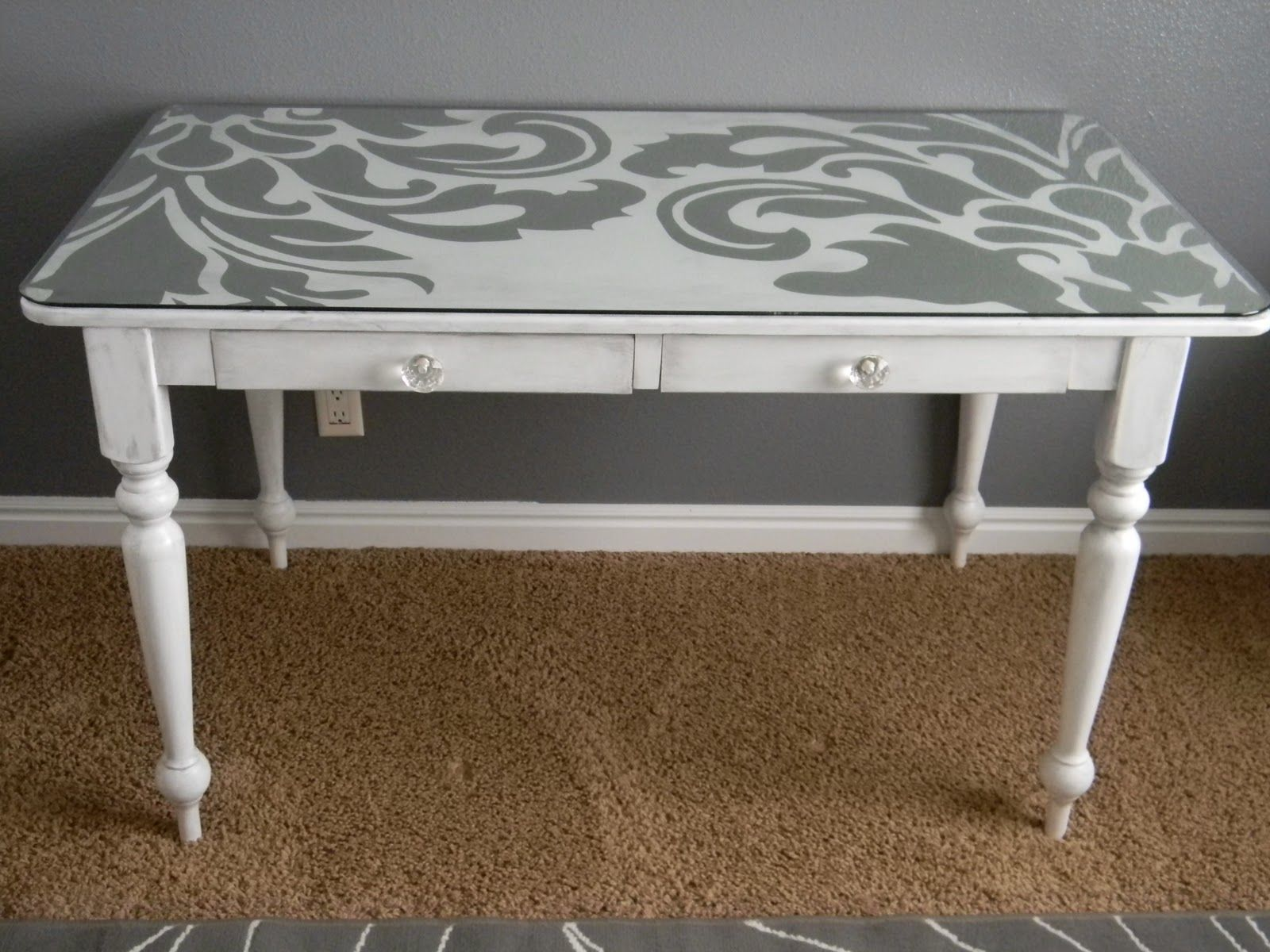 Table Painting Designs Best 25 43 Desk Makeover Ideas On Pinterest White And