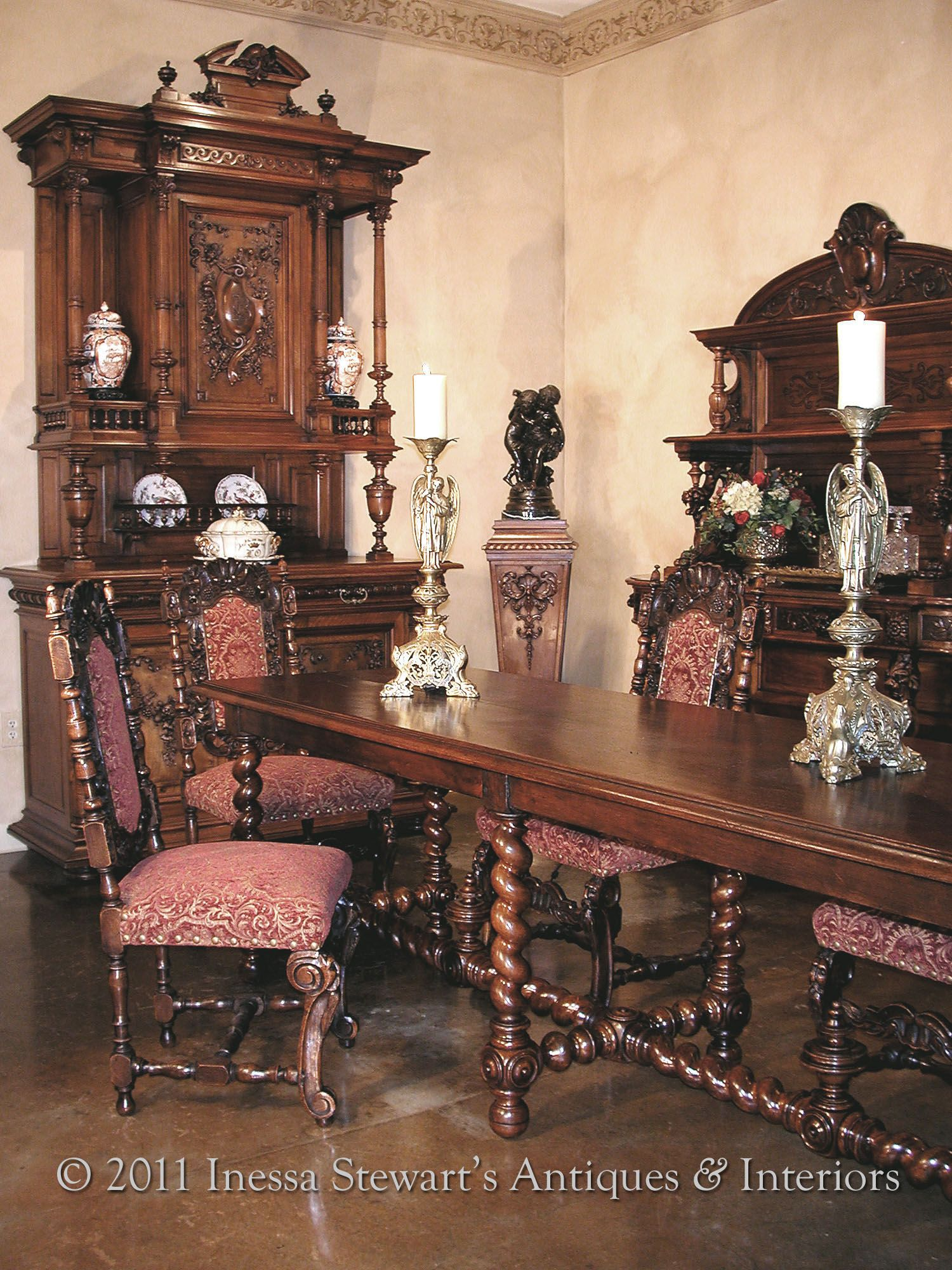 Antique renaissance style dining room to most of us antique french furniture means furnishings