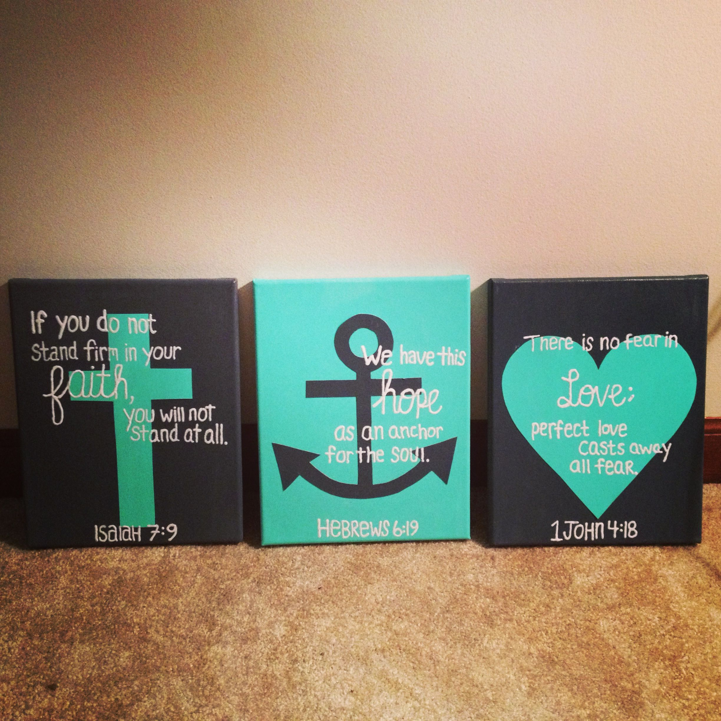 Diy Canvas Wall Art Quotes Quote Canvas Hebrews 6 19 Verse Painting Quote Canvas