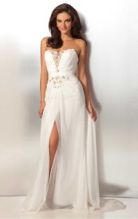 Elegant White Sheath Floor-length Sweetheart Dress ...