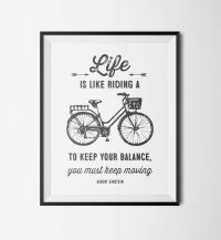 Printable Wall Art  Motivational Bicycle Quote ...