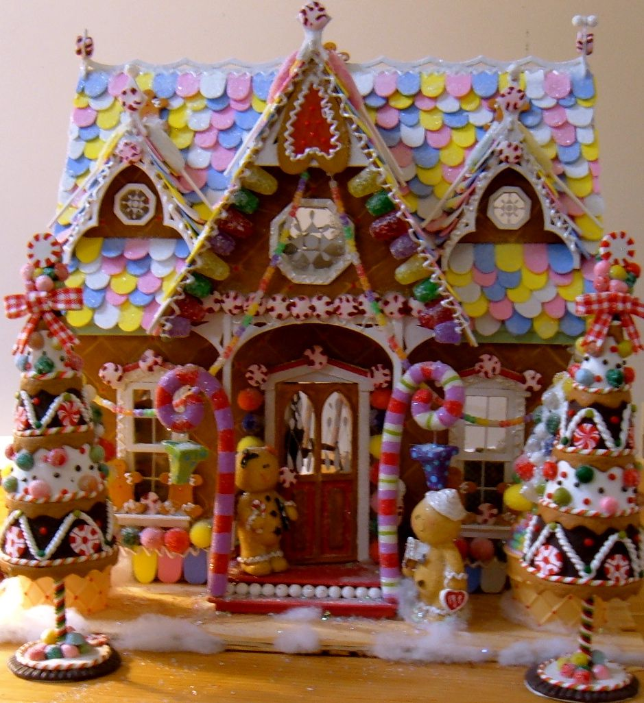 candyland christmas door decoration