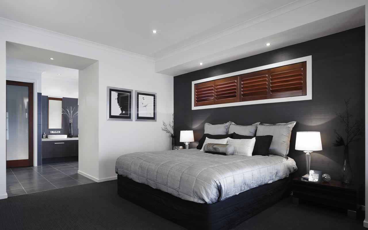 Dark Grey Bedroom Walls Dark Grey Feature Wall With White Trim Looks Great