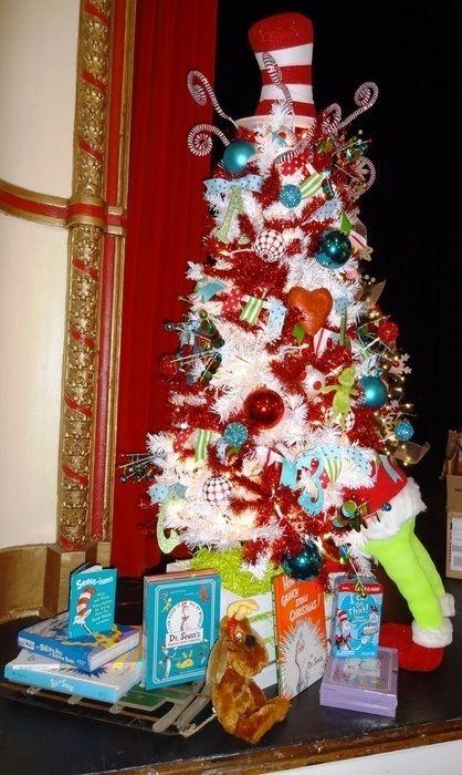 Merry Seussmas 65u0027 Tall with topper Includes $100 of Dr Seuss - dr seuss christmas decorations