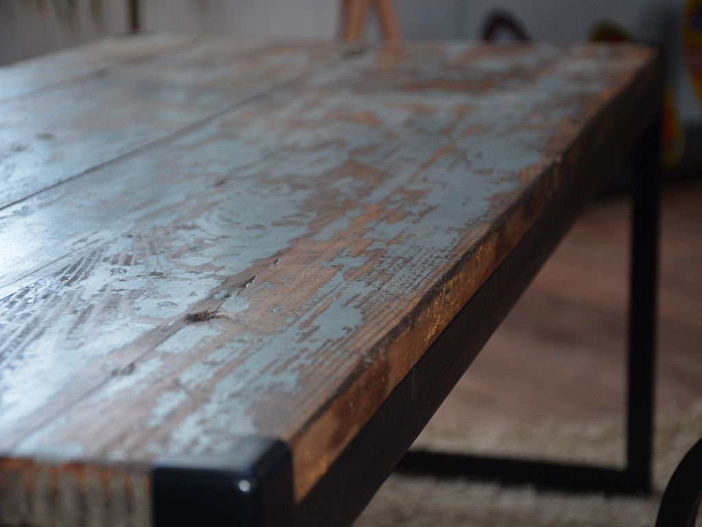 Table En Bois Vintage Table Bois Table Vintage Table Industrielle Table Bois