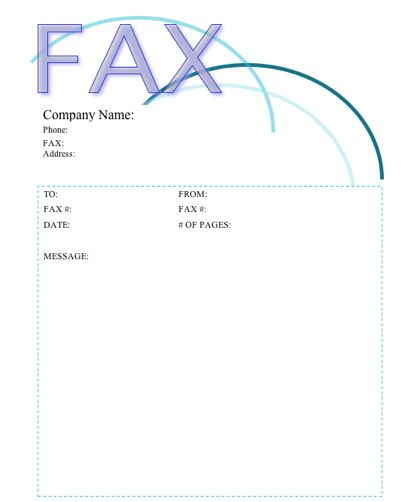The top of this printable fax cover sheet is accented with - fax cover sheet free