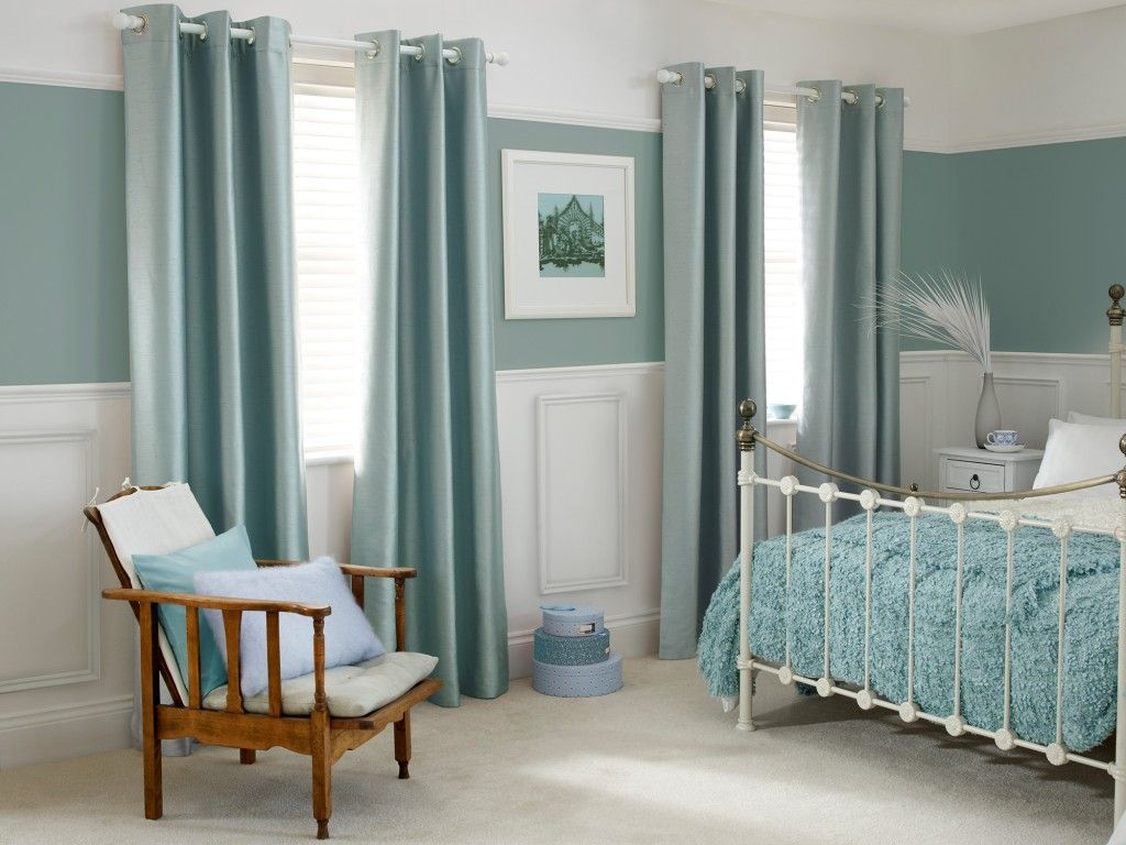 What Color Curtains With Blue Walls Brown Furniture Duck Egg Curtains And Wall Duck Egg Blue Pinterest
