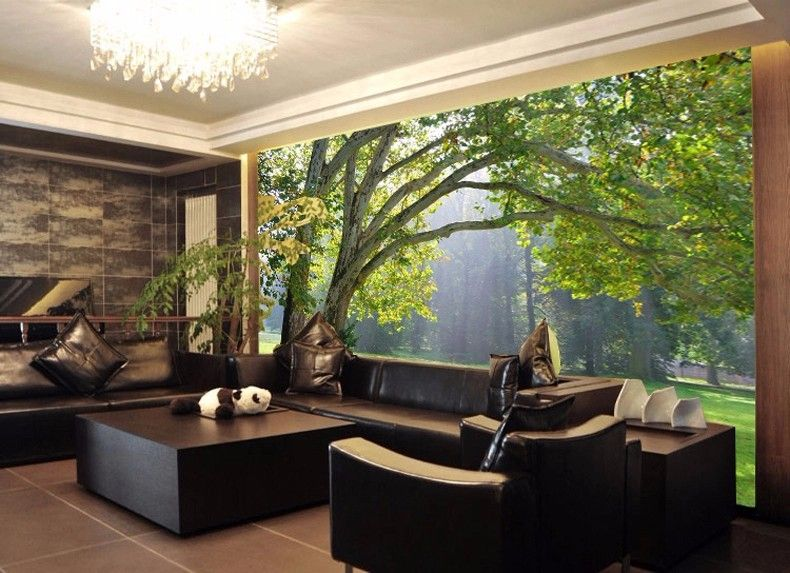 3d Wallpaper For Walls In Karachi 3d Mural Wallpaper Scenery For Living Room Tv Background
