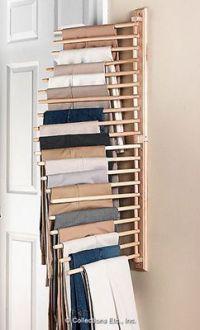 Wall Mount Trouser Pant Closet Organization Rack | Closet ...