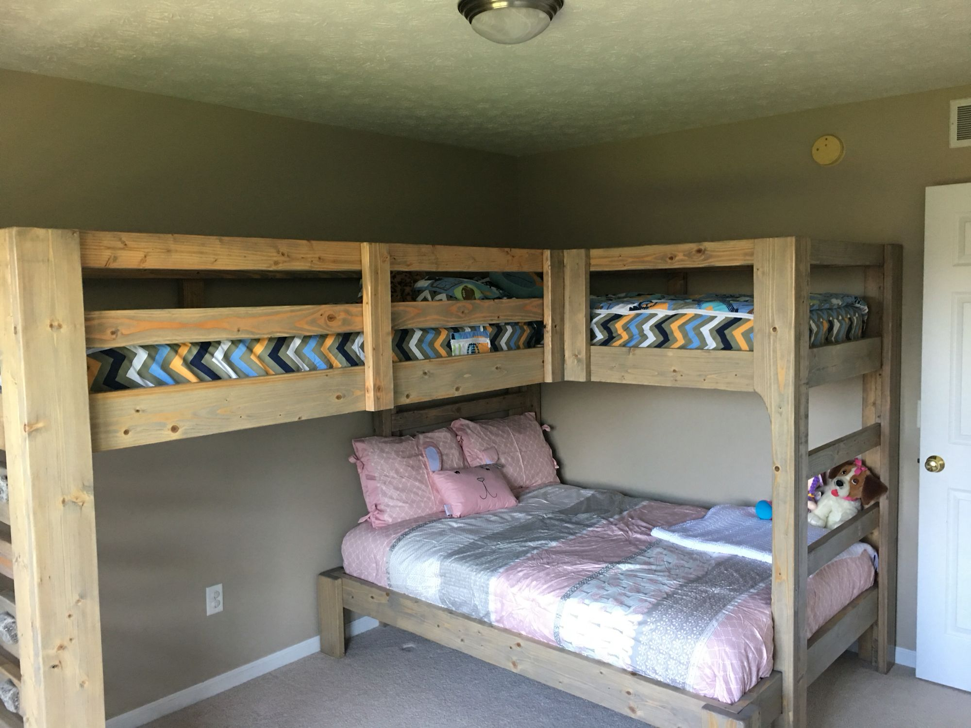 Double Loft Bed For Kids Conserving Space And Staying Trendy With Triple Bunk Beds