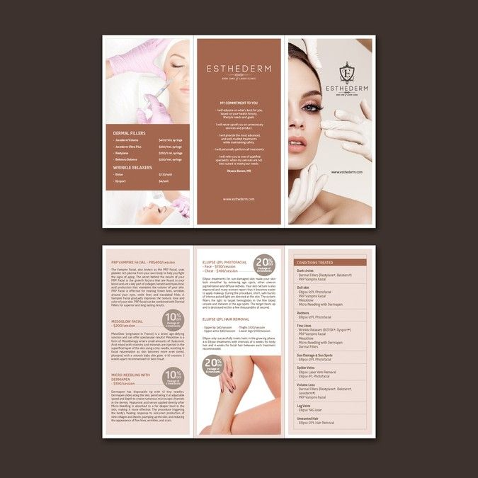 Create a med Spa Brochure\/Price List by ChinYii Logo design - spa brochure