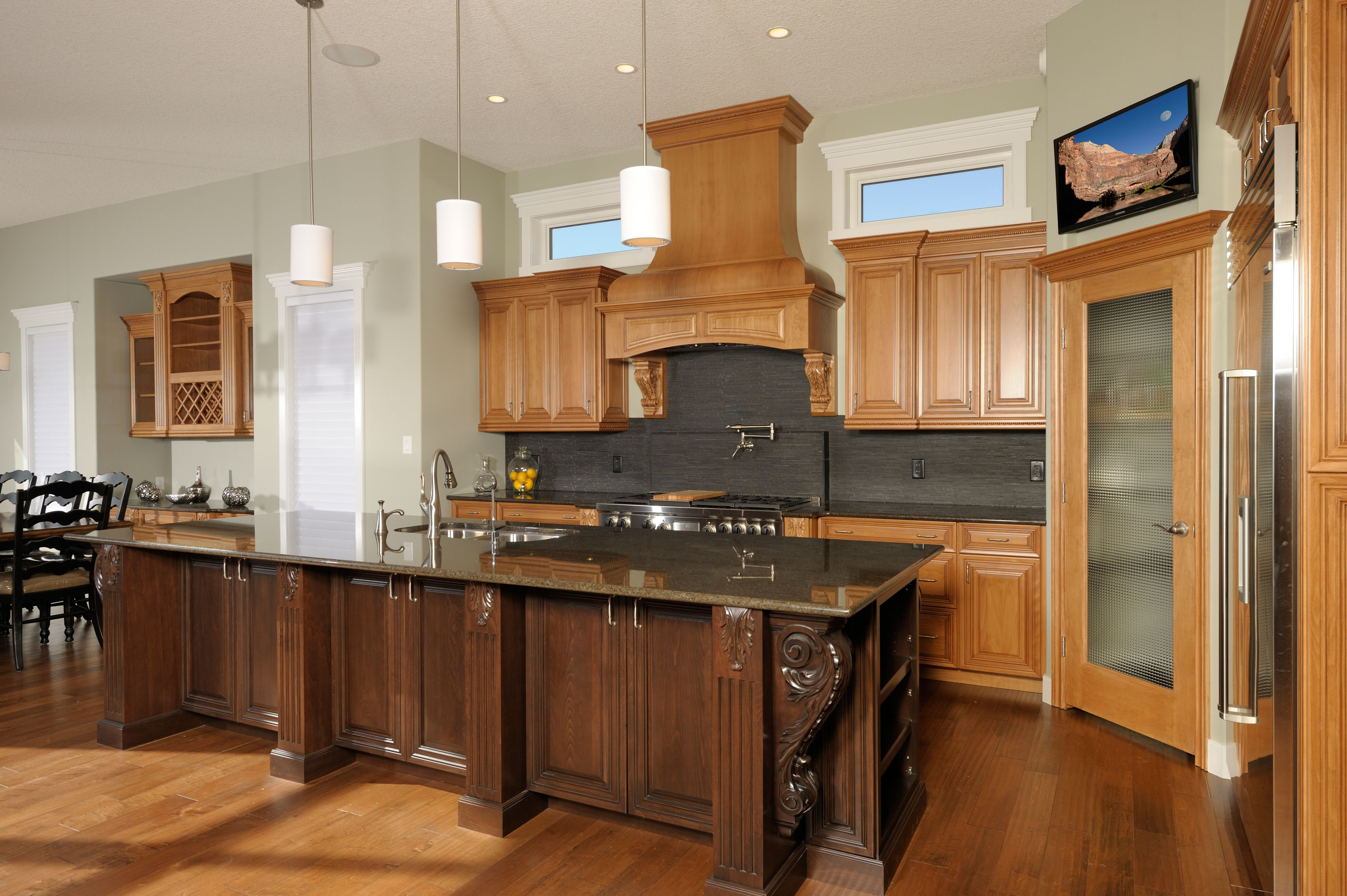 Two Tone Kitchen Cabinets With Black Granite 2 Tone Beech Cabinets With Black Slate Tierra Sol