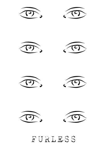 FREE FACE DESIGN MAKEUP TEMPLATES - Furless Makeup and Face charts - eye chart template