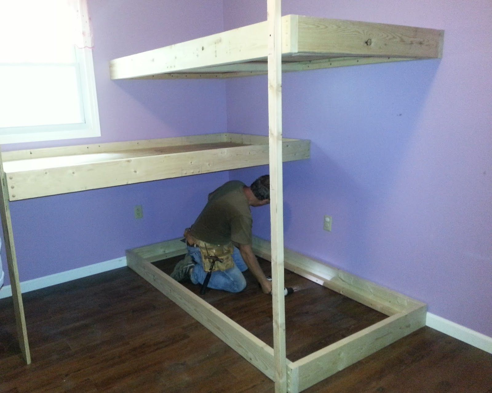 Cool Bunk Beds Diy Instructions For A Cool Bunk Bed Girls New Room