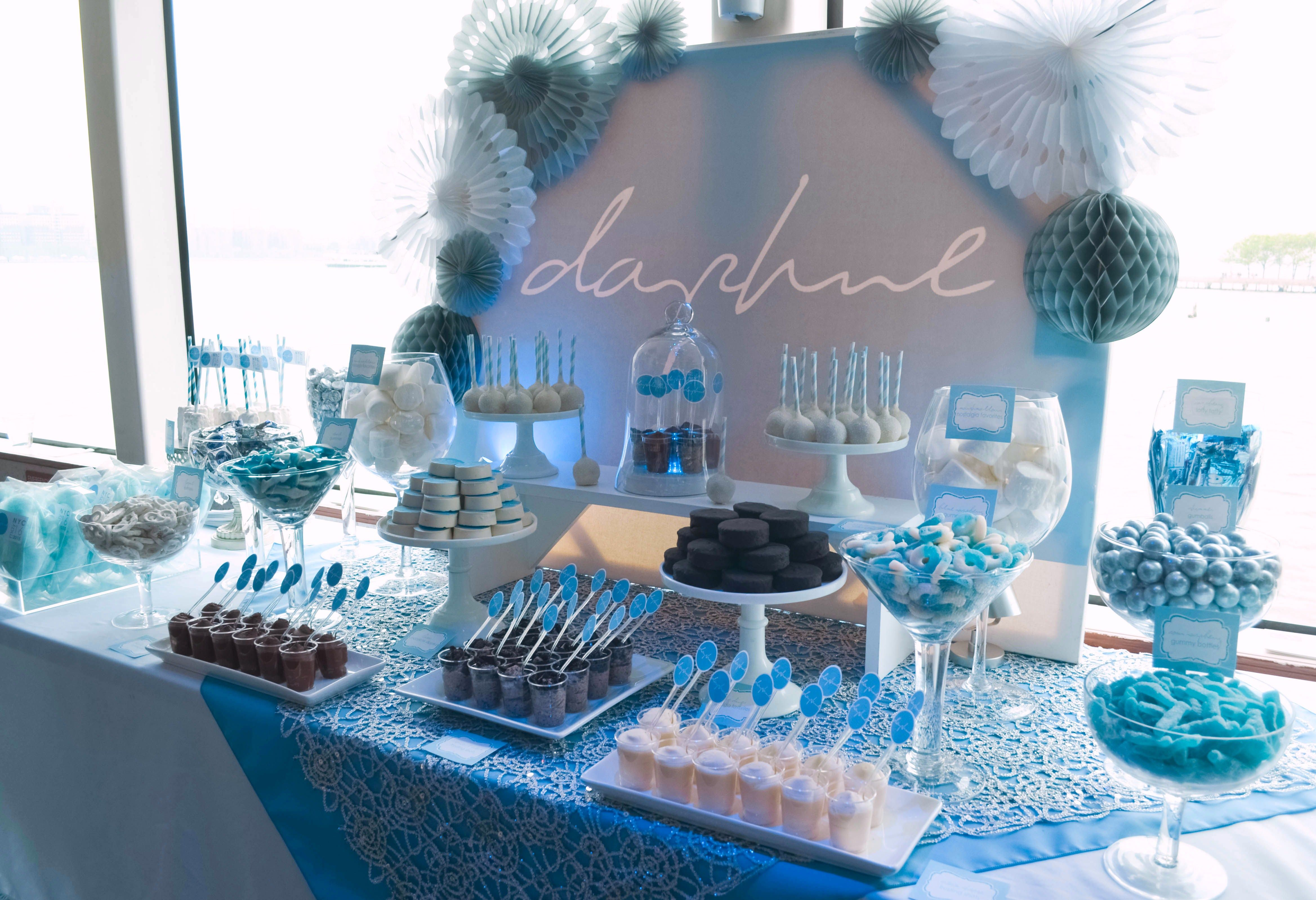 Diy Backdrop Stand For Dessert Table Blue And Gold Dessert Table Google Search Party