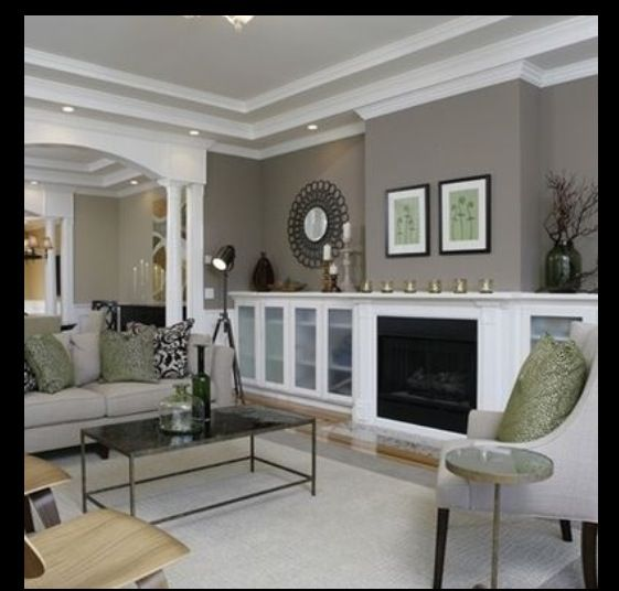 Sherwin Williams Mindful Gray Project  - mindful gray living room
