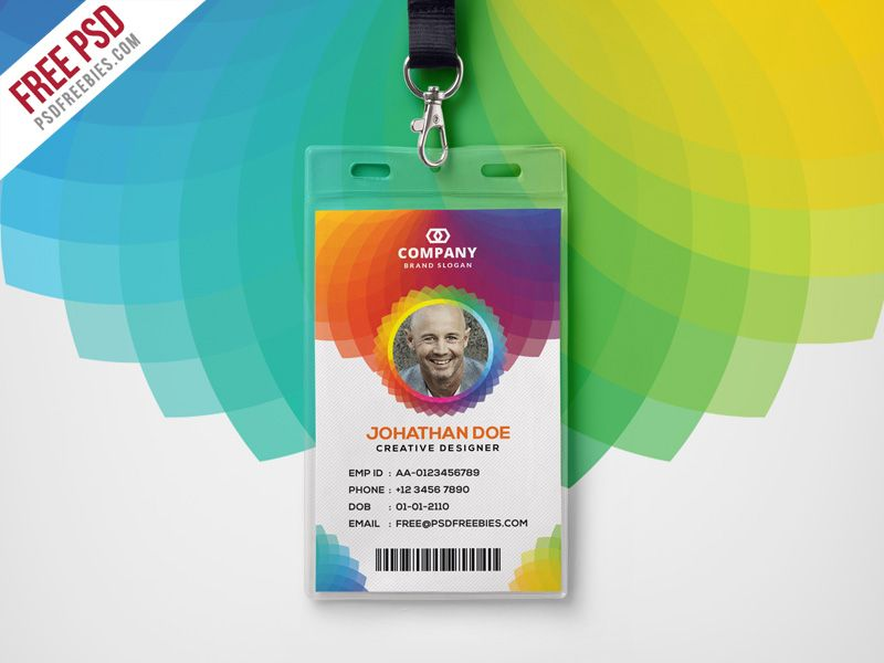 Cool Corporate Branding Identity Card Free PSD Download Free - id card template
