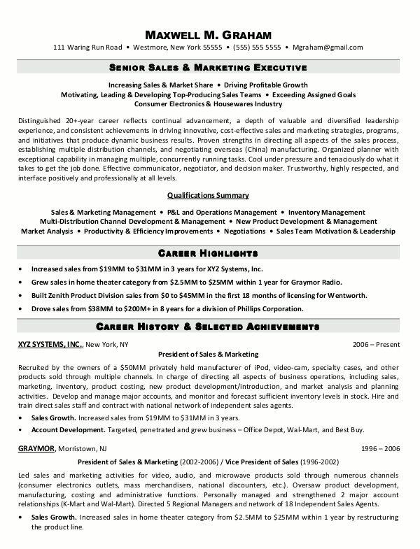 Sales Executive Resume Format - http\/\/jobresumesample\/1344 - sales executive resume
