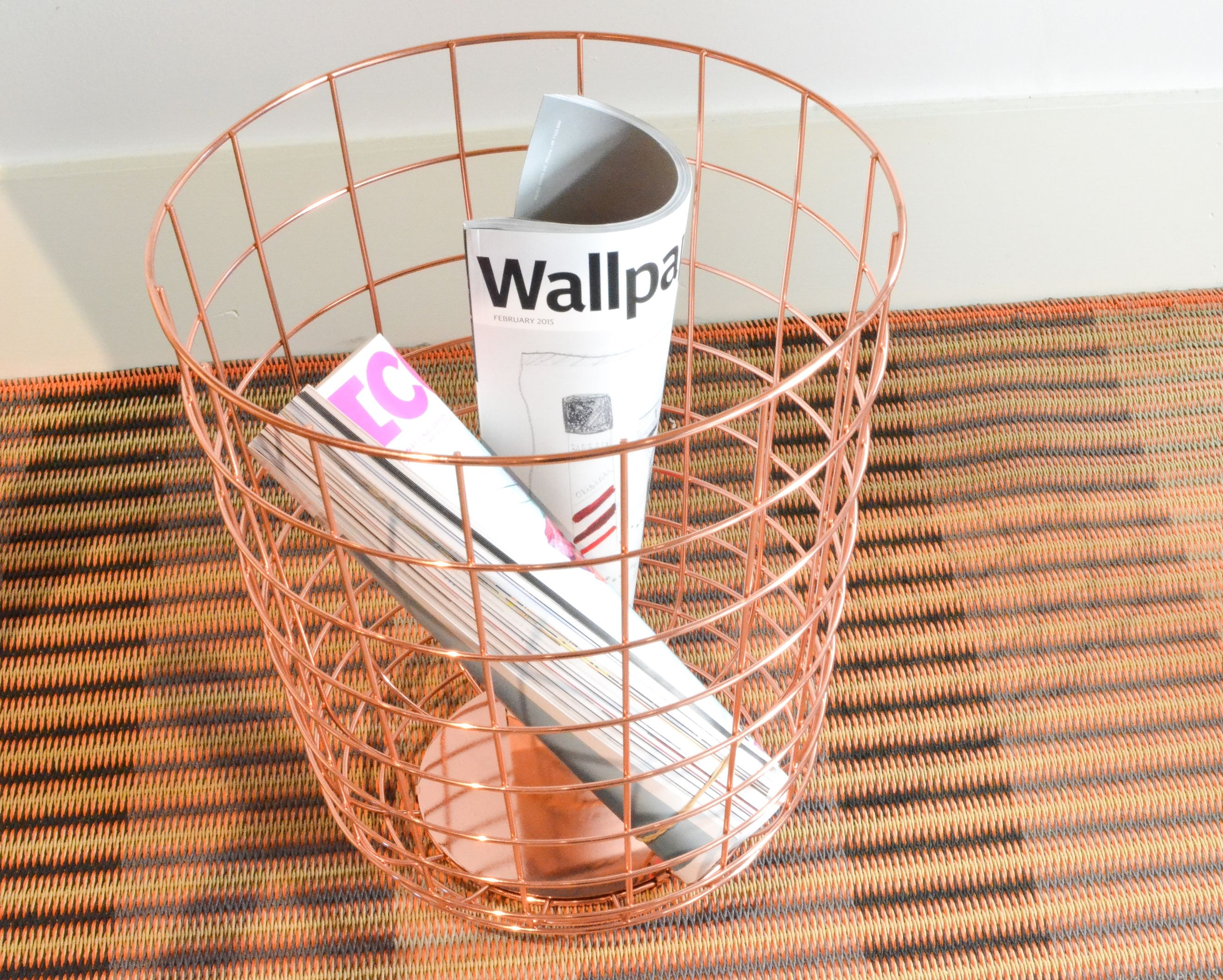 Rose Gold Trash Can The Contemporary Wire Bin From Menu Features In Our Copper