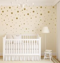 Gold Dot Decals | Polka Dot Wall Decal | Gold Vinyl Dots ...