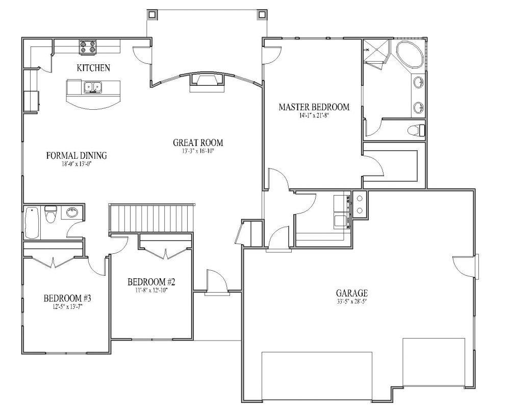 open floor plan kitchen open floor plans Open Floor Plans Patio Home Plan House Designers