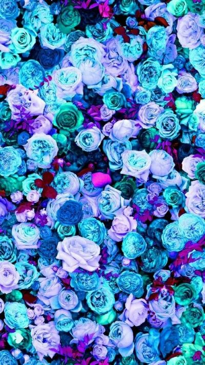 Mint blue lilac teal pink peonies roses floral iphone phone wallpaper background lock screen ...