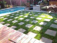 Artificial grass with pavers. | Home - diy | Pinterest ...
