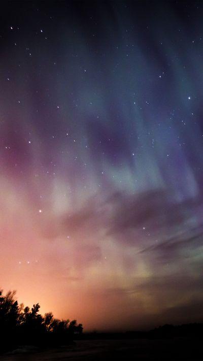 Sky Aurora Night Stars Wonderful #iPhone #6 #plus #wallpaper   iPhone 6 Wallpapers   Pinterest