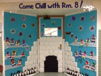 Winter door decorating... Igloo-Eskimos-penguin craft ...