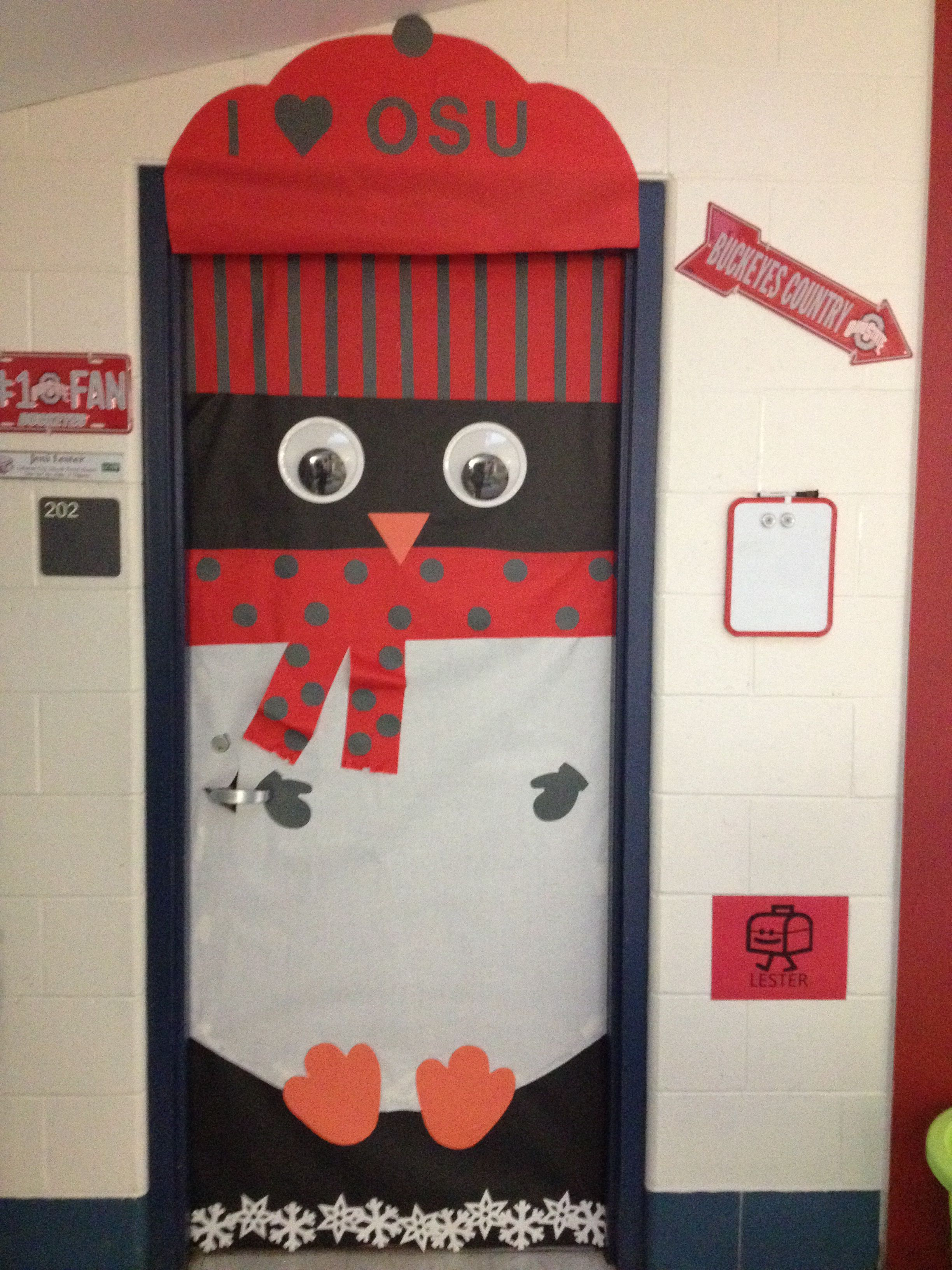 My rocking OSU penguin door decor. Go Bucks!!!