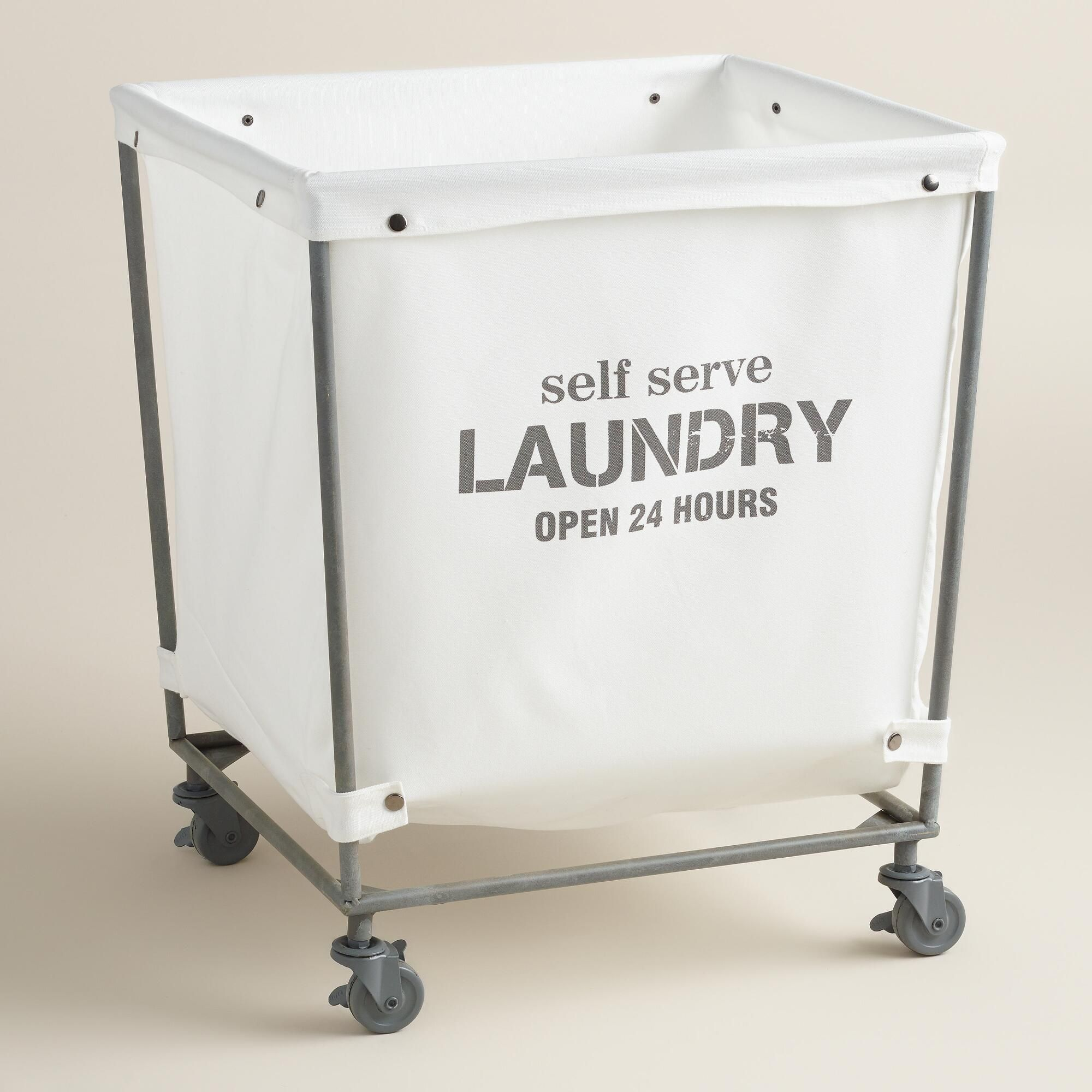 Laundry Bin With Wheels A Chic Take On The Classic Laundromat Cart Our Rolling