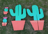 DIY Cactus Cardboard Cutout Plant Stand Quick and easy ...
