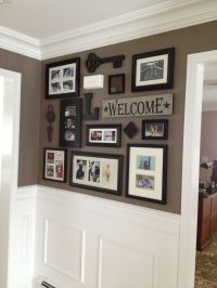 Picture collage for front entry and impressive wainscoting ...