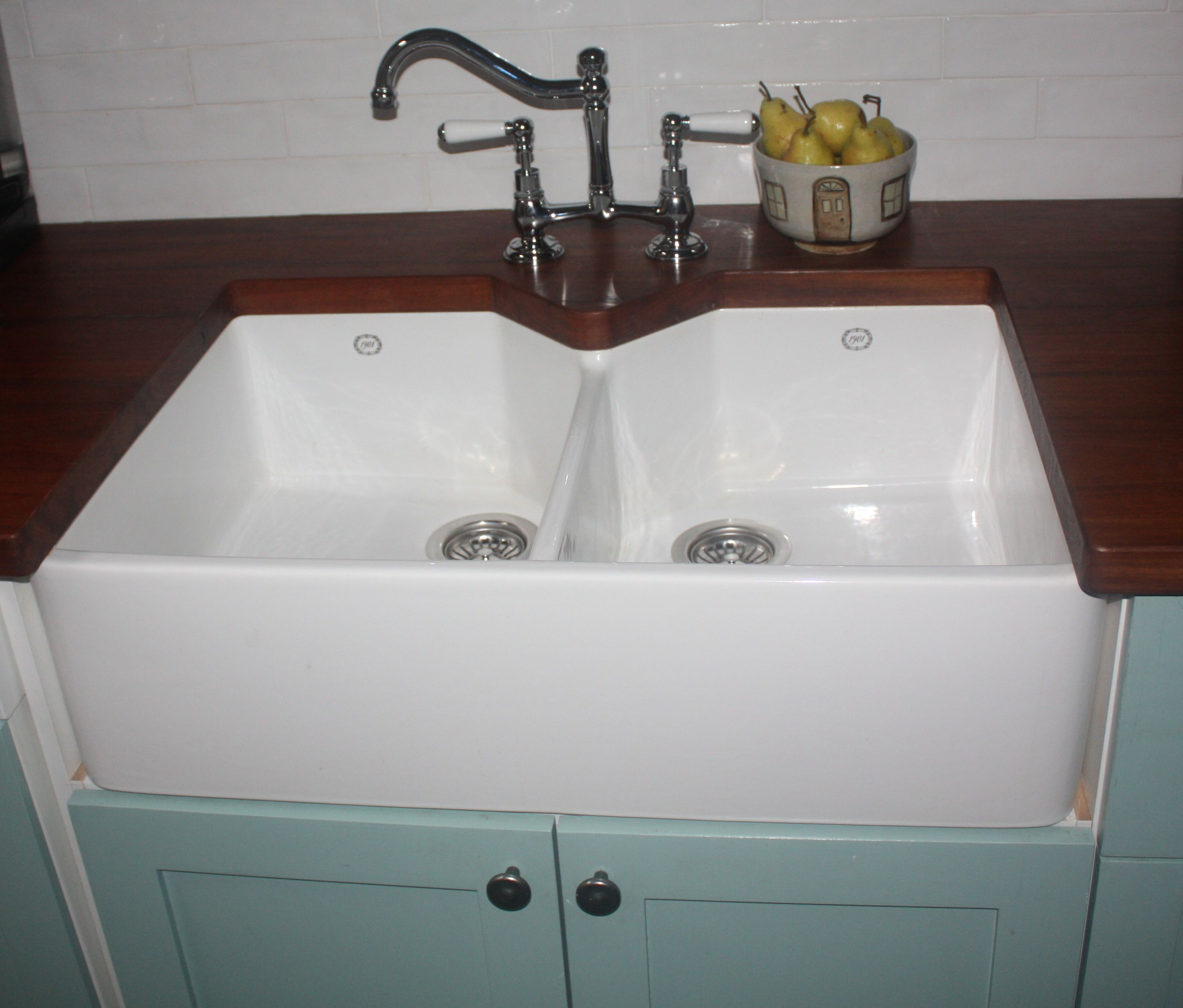 Wooden Sinks Double Butler Sink With Wooden Bench Top Http Www