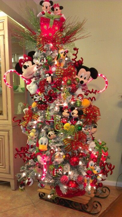 Pinner said I made my granddaughter a Disney tree I did it the - disney christmas decorations