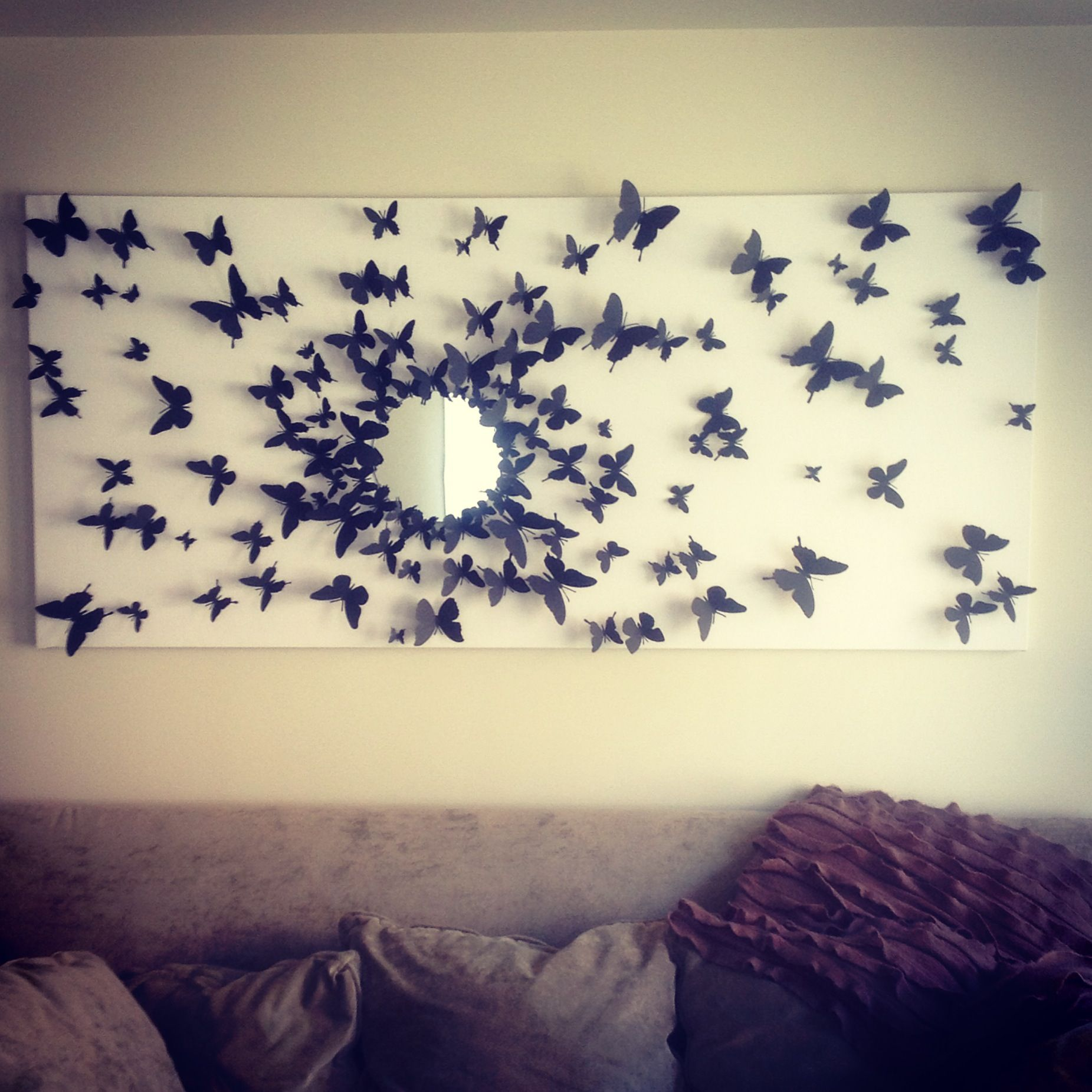 Butterfly Bedroom Themes Gossip Girl Inspired Butterfly Wall Art Finally Finished