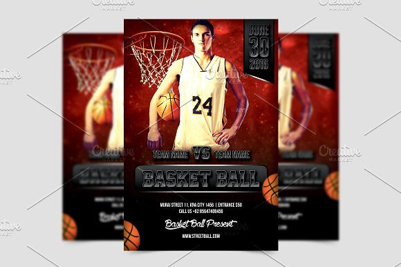 Basket Ball Flyer Template by meisuseno on @creativemarket - basketball flyer example