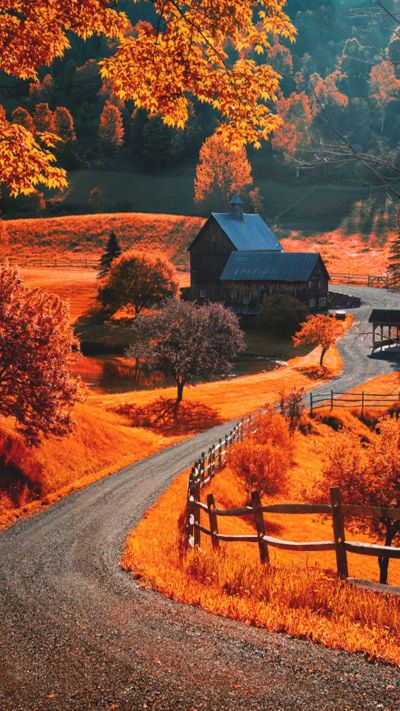 Autumn Landscape iPhone wallpapers / lock screen background. Tap to see more Beautiful ...